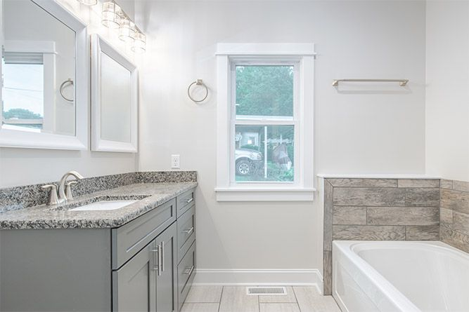 Bathroom remodel by Absolute Construction